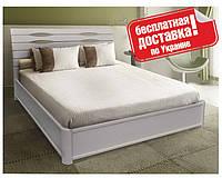 """Кровать """"Марита V"""" 140х200 см. Белая, Буковый щит, С подъемным механизмом"""