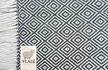 """Плед шерстяной с бахромой Vladi """"Венеция"""" из нежной шерсти новозеландских овец, фото 3"""