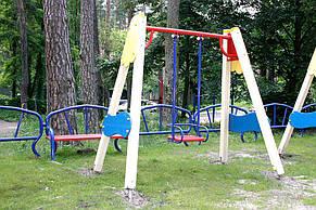 Детские качели одинарные на деревянных стойках , фото 2