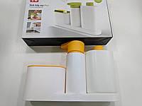 Органайзер для кухни и  ванной, дозатор для жидкого мыла, держатель для зубных щеток, Sink Tidy Sey Plus 3 в 1