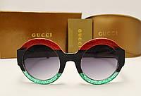 Женские солнцезащитные очки Gucci 0084 copy (Зеленый-красный), фото 1