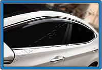 Hyundai Elantra 2011+ гг. Полная окантовка стекол (10 шт, нерж.)
