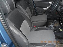 Авточехлы из экокожи и ткани - Dacia Logan II 2008-2013 гг.