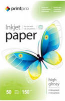 Фотобумага А4 глянец  PrintPro 150 гр плотность 50 листов в упаковке