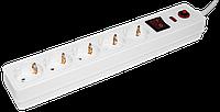 Сетевой фильтр СФ-05К-выкл. 5 мест 2Р+РЕ/3метра 3х1мм2 ИЭК
