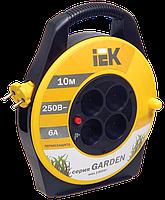 "Катушка УК10 с т/з 4 места 2Р/10м 2х0,75 мм2 ""Garden"" (WKP23-06-04-10) IEK"