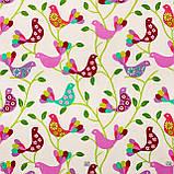 Ткань Розовые птички, фото 2