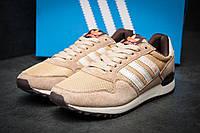 Кроссовки мужские Adidas ZX500, бежевые (11532), реплика