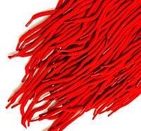Шнурки для обуви (100см) круглые, цвет красный(упаковка 72 пары, Ø 6мм)