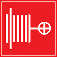"Самоклеящаяся этикетка: 150х150 мм, ""Пожарный кран"""