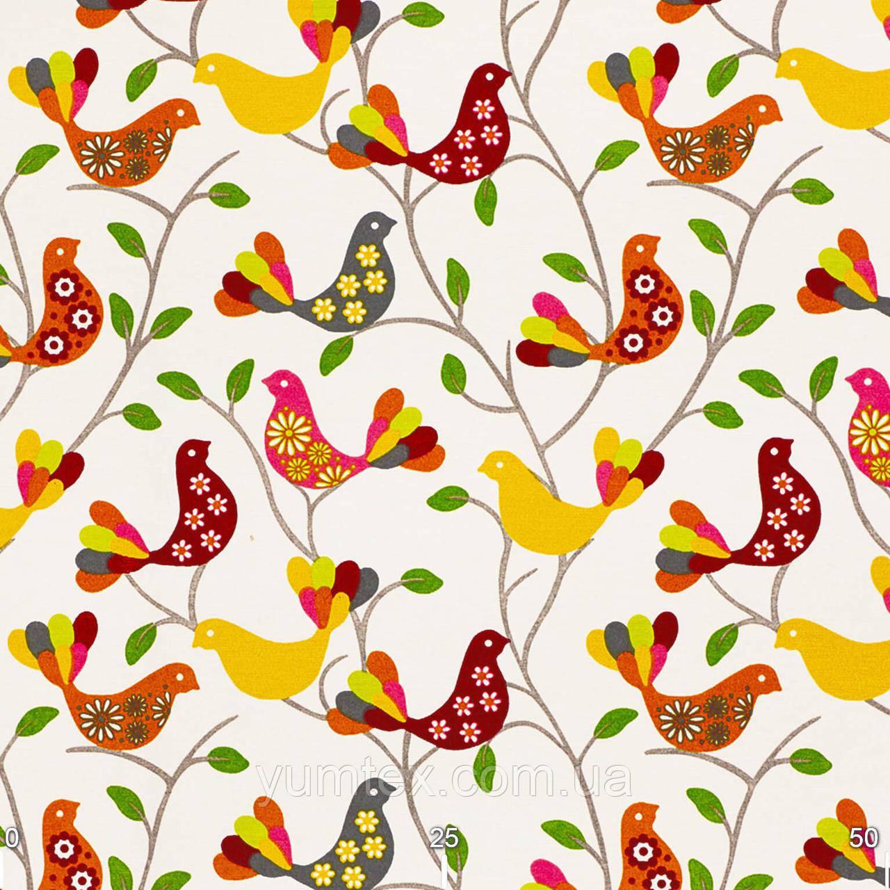 Ткань Красные птички