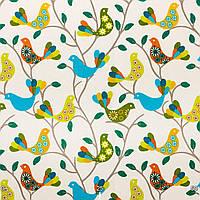 Ткань Зеленые птички