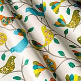 Ткань Зеленые птички, фото 2