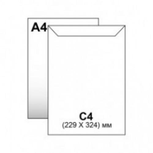 Пакет-конверт бум. С4 скл. 229*324 мм КРАФТ c расширением (уп.250/500шт.)