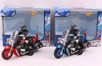 Мотоцикл Police 9968-1A 3 вида, муз. в упак. 15*5,5*10 см