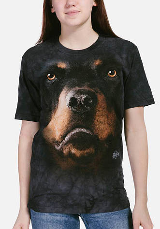 3D футболка для девочки The Mountain р.XL 13-15 лет футболки детские с 3д принтом рисунком (Ротвейлер), фото 2