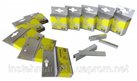 Скобы каленые для степлера Сталь 12х10.6 Т50, 1000 шт (арт. 62124)