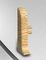 Заглушка левая-комплектующие для плинтус напольный с кабель каналом ТЕКО Люкс