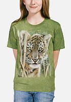 3D футболка для девочки The Mountain р.XL 13-15 лет футболки детские с 3д рисунком (Тигренок)