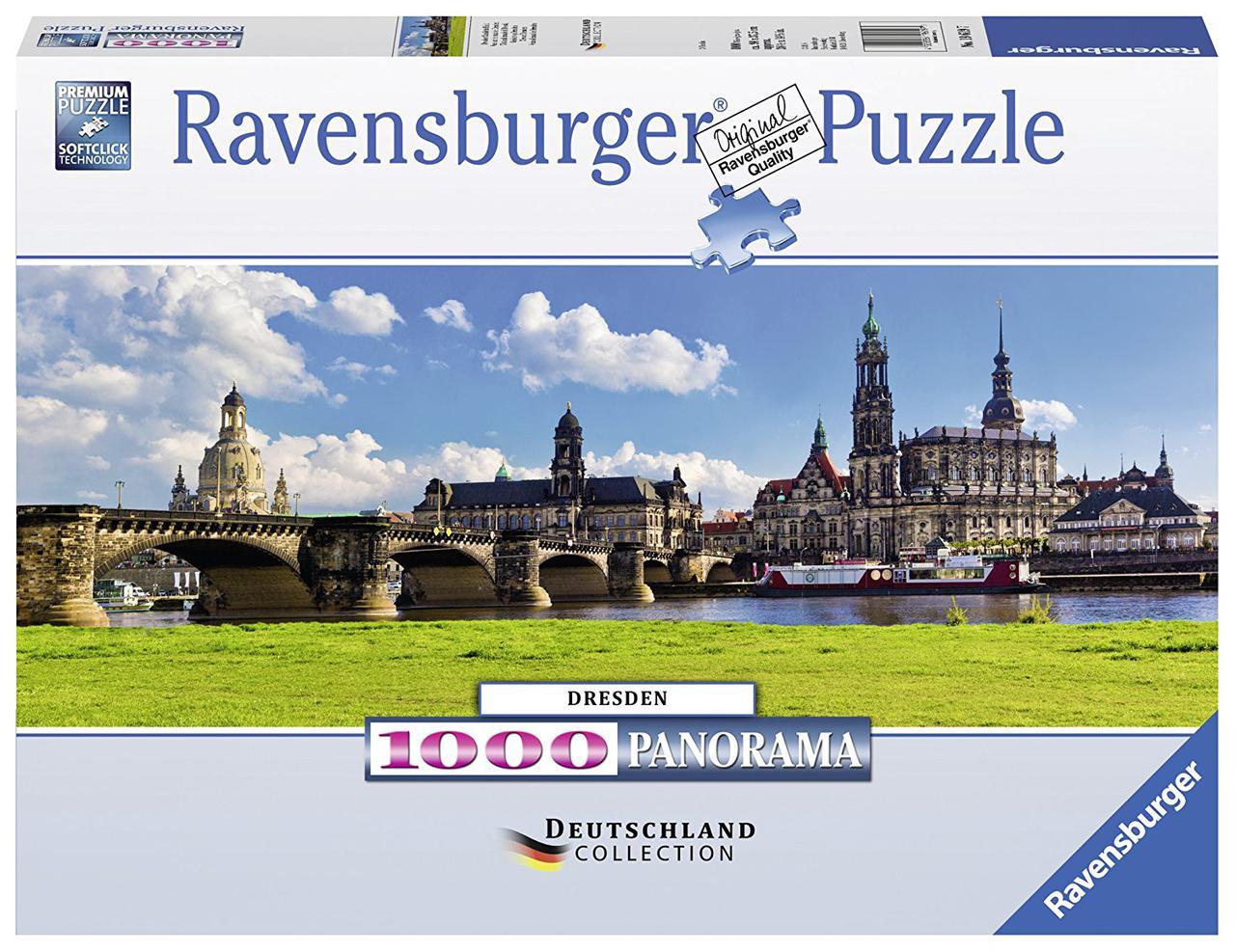 """Пазл """"Панорама Дрездена"""" 1000 шт. панорамный Ravensburger (RSV-196197)"""