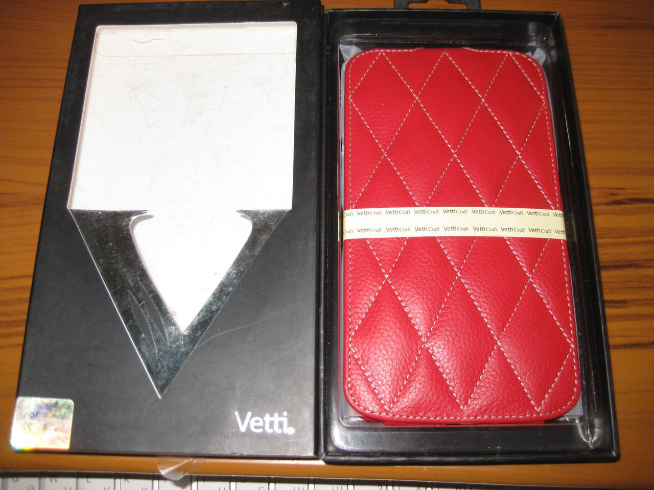 Чохол-фліп Vetti Craft Flip Samsung Galaxy Mega 6.3 I9200 Diamond Series Red
