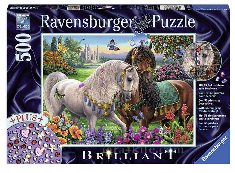"""Пазл """"Пара лошадей"""" 500 шт. Ravensburger (RSV-149117)"""