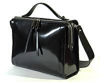 Практичная, стильная, деловая кожаная полированная сумка для business woman, итальянская полировка.