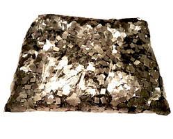 Конфетти квадратики серебро. Вес:50гр.