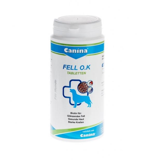 "FELL O.K ""CANINA"" ФЕЛЛ О.К.пищевая добавка с биотином и микроэлементами для собак,таблетки 125 таб"