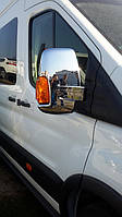 Ford Transit 2014+ гг. Накладки на зеркала (2 шт, пласт)
