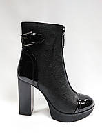 Черные ботиночки на каблуке ERISSES. Ботильйоны.  Маленькие размеры ( 33 - 35 )., фото 1