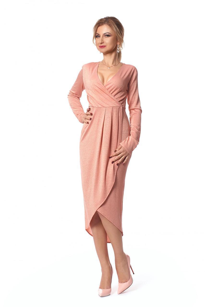 d251c087fc10 Шикарное платье длины миди на запах 1032-2 - Интернет магазин производитель  женской одежды ТМ