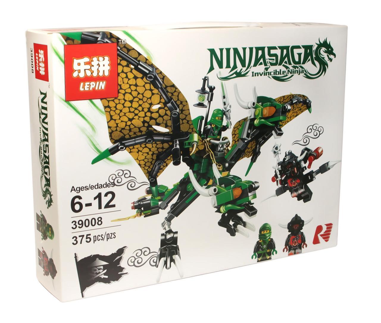 Конструктор аналог лего Lepin Ниндзяго (Зелёный дракон Ллойда), 375 де