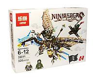 """Конструктор для мальчика, Lepin серия """"Ninjsaga"""" (Ледяной дракон Зейна), 320 деталей (39011) - аналог LEGO (лего)"""