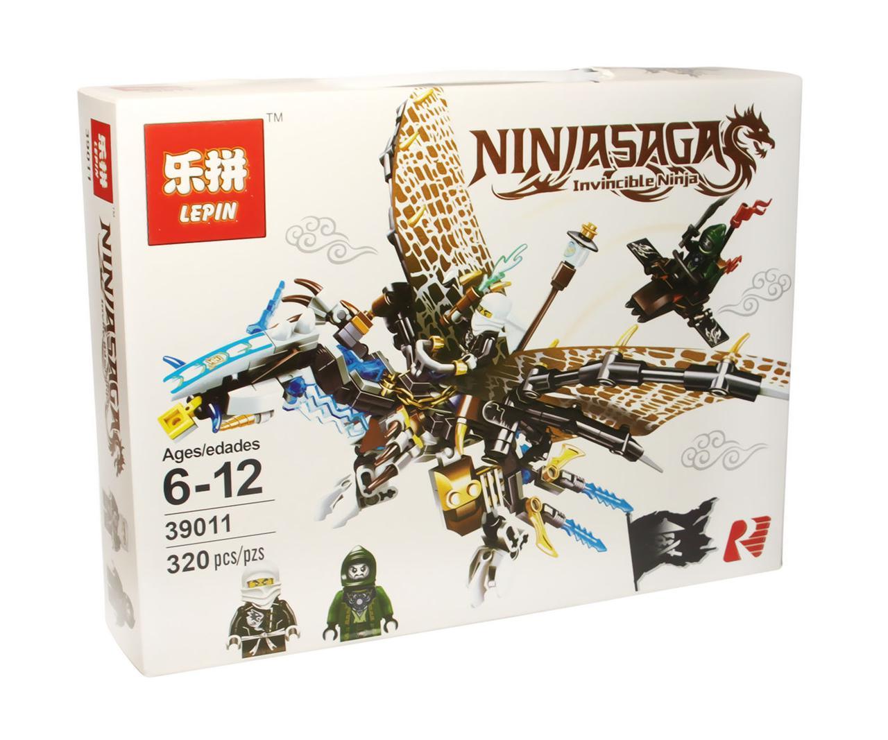 Конструктор аналог лего Lepin Ниндзяго (Ледяной дракон Зейна), 320 дет
