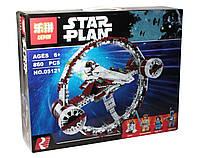 Конструктор аналог лего Lepin Звездные Войны (Звёздный истребитель Джедаев), 860 деталей (05121)