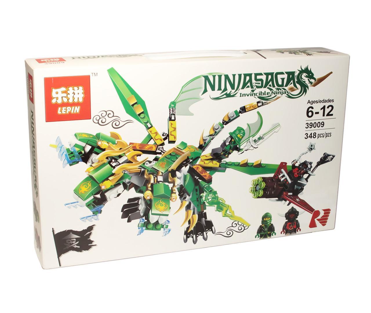 Конструктор аналог лего Lepin Ниндзяго (Трехголовый зеленый дракон), 3