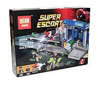 Конструктор аналог лего Lepin Супер герои (Человек-Паук: Ограбление банкомата), 201 детали (07089)