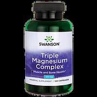 Магний комплекс / Triple Magnesium Complex, 400 мг 100 капсул, фото 1