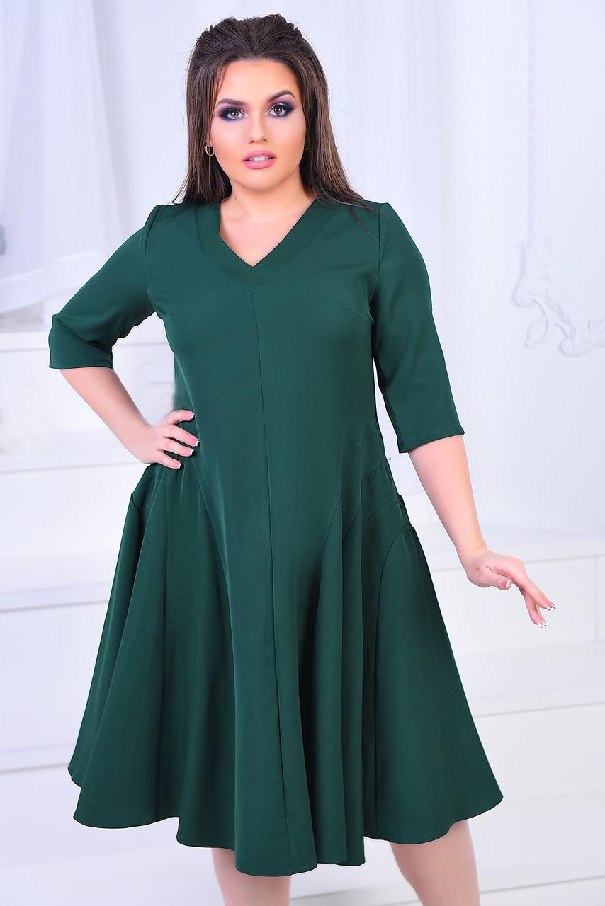 ИВ7011 Платье клеш (размеры 46-58)