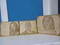 Эксклюзивный подарок выжигание портрета на дереве под заказ лазерной гравировкой