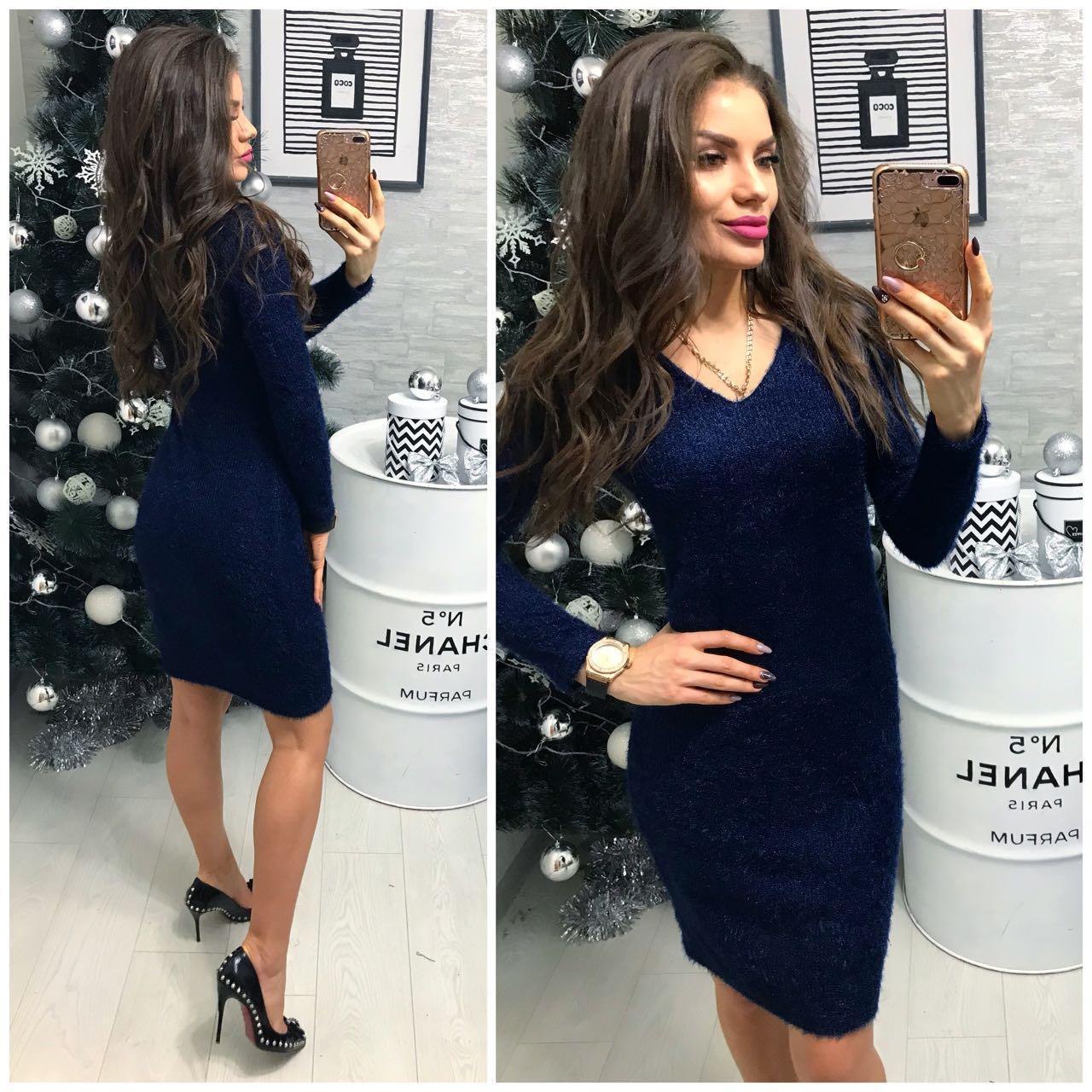 Платье вечернее, модель 802/2, цвет - синий