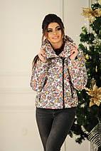 "Короткая женская куртка на молнии ""RISELLE"" с карманами, фото 2"