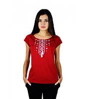 Жіноча вишита футболка , геометричний орнамент