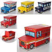 Корзина для игрушек M 2968 (20шт) пуф, 39-25-30см, 5 видов, в кульке,62-30-3cм