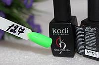 Гель лак Kodi(Коди) № 127 неоновый зеленый 8 мл.