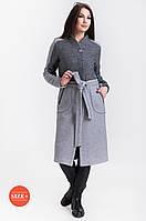 Пальто женское комбинированое