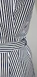 Рубашка блузка женская, удлиненная в бело-синюю полоску, вышивка кот,Ткань: рубашечный коттон, Турция, фото 9