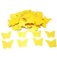 Конфетти бабочки жёлтые. Вес:50гр.