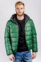 Куртка мужская спортивная, пуховик №249KF001 (Зеленый)